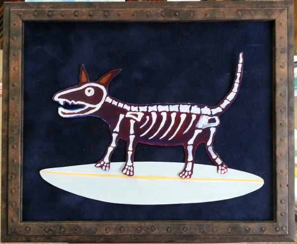 Surfing Skeleton Puppy